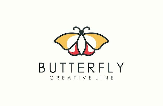 Logo papillon contour moderne