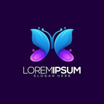 Logo papillon impressionnant