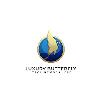 Logo papillon luxe