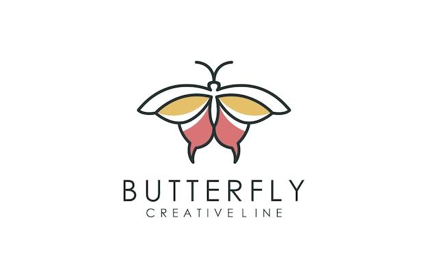 Logo papillon minimaliste