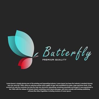 Logo papillon premium papillon élégant avec dégradé pour votre magasin d'entreprise ou autre
