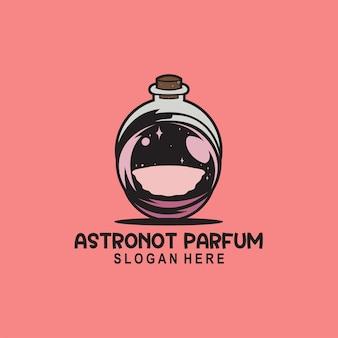 Logo de parfum astronaute