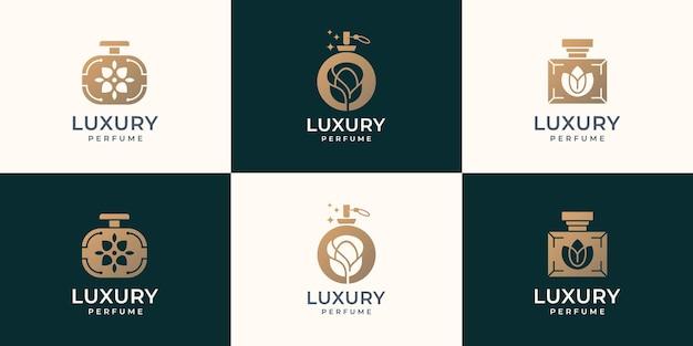 Logo de parfum de bouteille de luxe