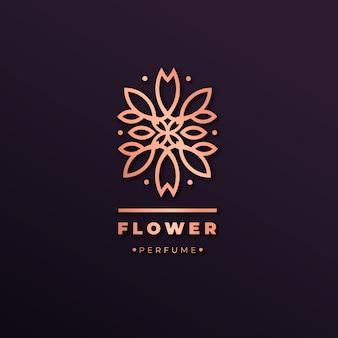 Logo de parfum floral de luxe