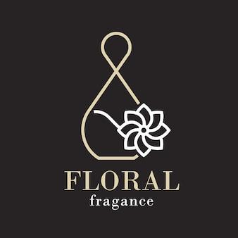 Logo de parfum floral sophistiqué
