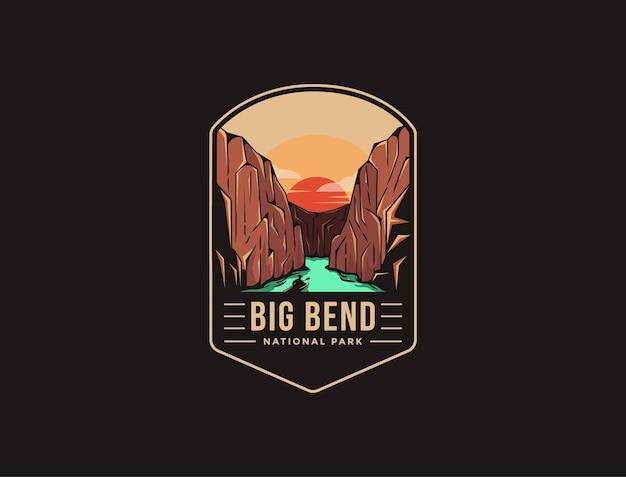 Logo patch emblème du parc national de big bend