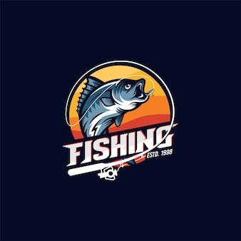 Logo de pêche vintage