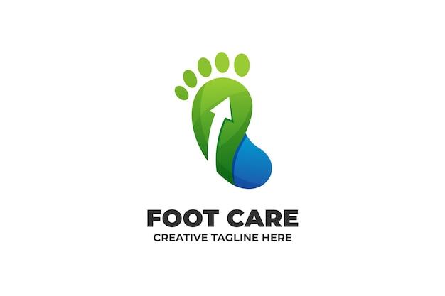 Logo de pédicure de réflexologie de soins des pieds