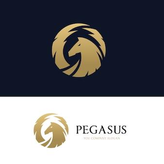 Logo pegasus. logo cheval