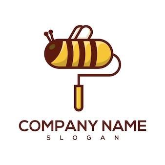 Logo de peinture d'abeille