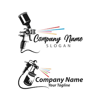 Logo de peinture conçoit le modèle de vecteur, modèle de logo d'art, logo de peinture de pistolet à peinture