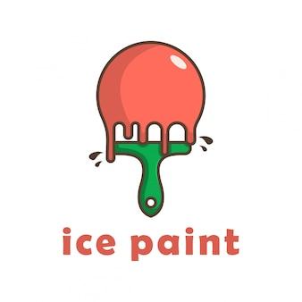 Logo de peinture sur glace