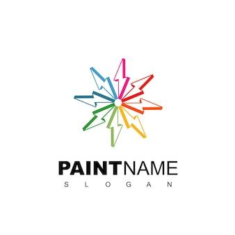 Logo de peinture rapide avec symbole de boulon de cercle
