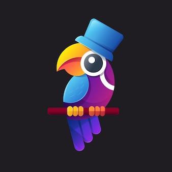 Logo de perruche coloré