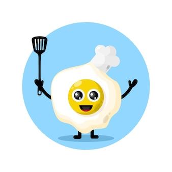 Logo de personnage de mascotte de chef de petit déjeuner