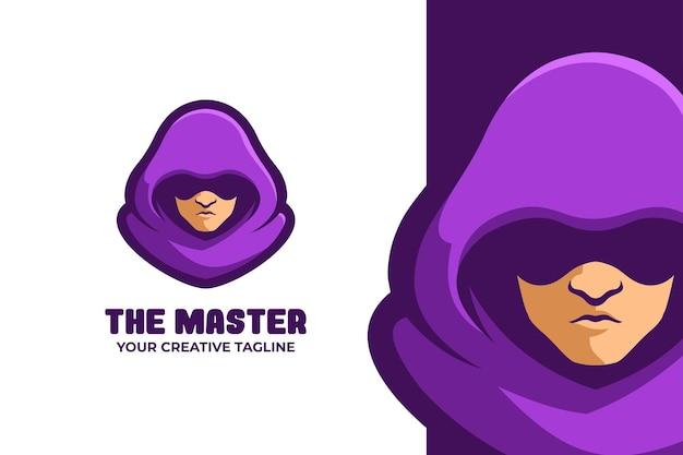 Logo de personnage mystérieux guy mascotte