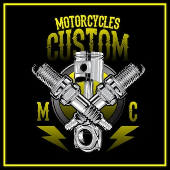 Logo personnalisé de motos