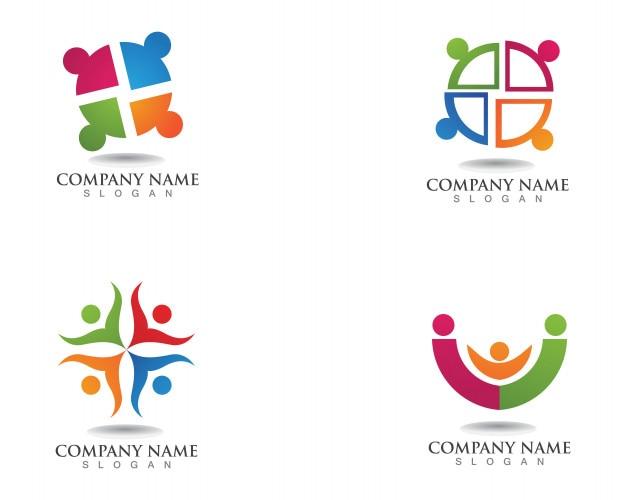 Logo de personnes de la communauté et le modèle de symboles