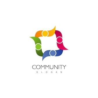 Logo de personnes symbole de la famille et de la communauté