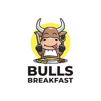 Logo petit-déjeuner taureau