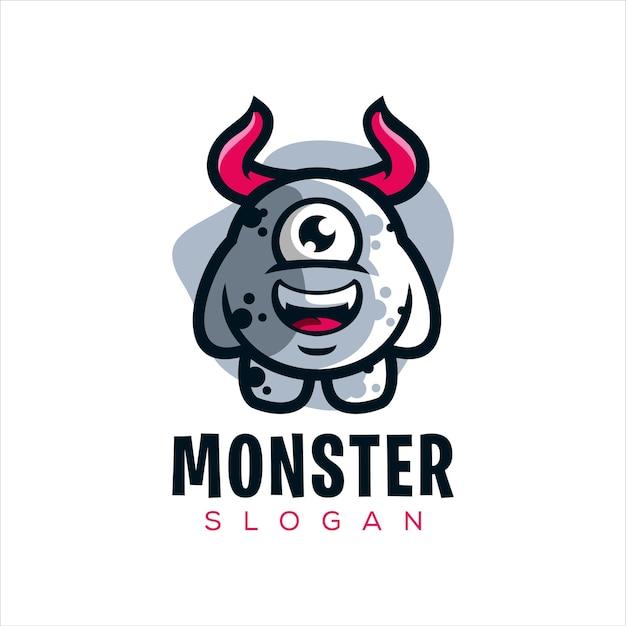 Logo de petit monstre mignon