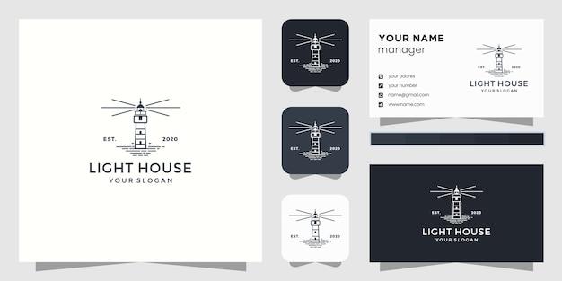 Logo de phare et carte de visite