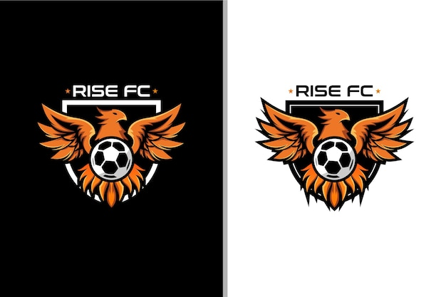 Logo phoenix et ballon pour club de football badge