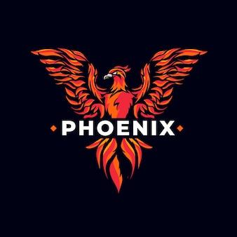 Logo phoenix puissant et créatif