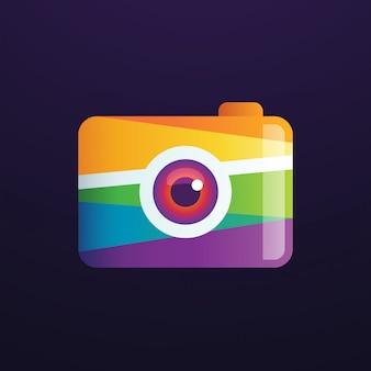 Logo de photographie de caméra