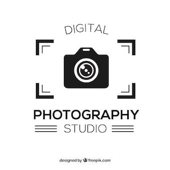 Logo de photographie en couleur noire