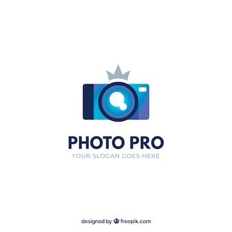Logo de photographie avec des couleurs dégradées