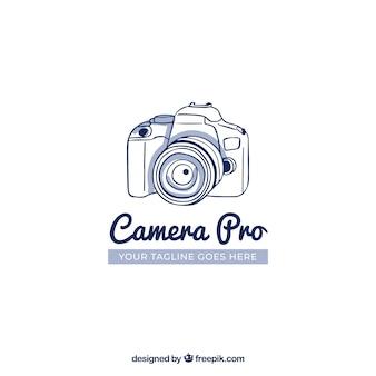 Logo de photographie avec vue de côté
