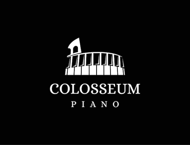 Logo de piano colisée