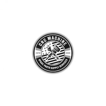Logo de pièces détachées pour service de machine cnc