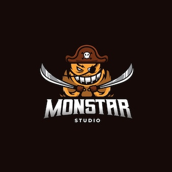 Logo de pirate monstre