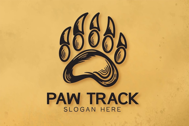 Logo de la piste de l'ours dessiné à la main