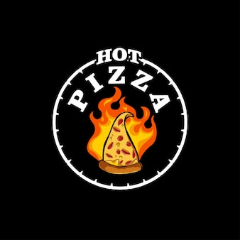 Logo de pizza chaude