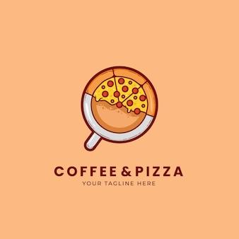 Logo De Pizzeria Et De Café Vecteur Premium