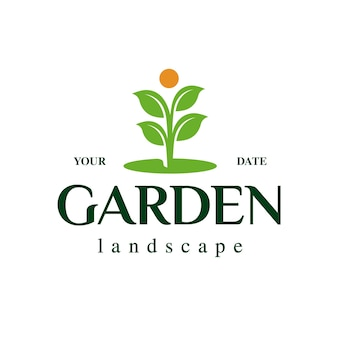 Logo de plante de jardin