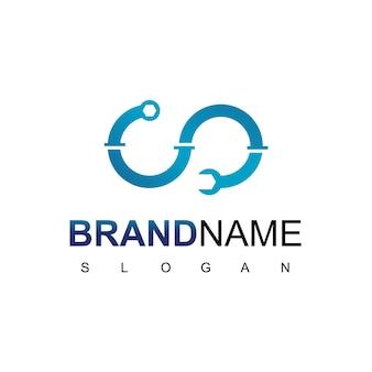 Logo de plomberie infini