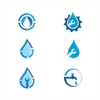 Logo de plomberie modèle d'illustration de conception d'icône de vecteur