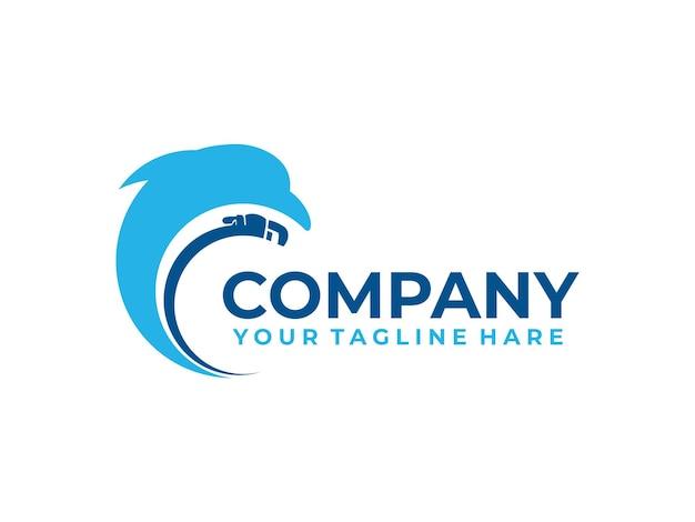Logo de plomberie de réparation de dauphin
