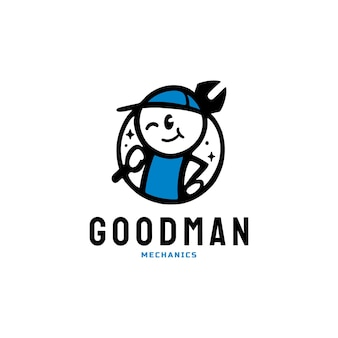 Logo de plombier mécanique goodman