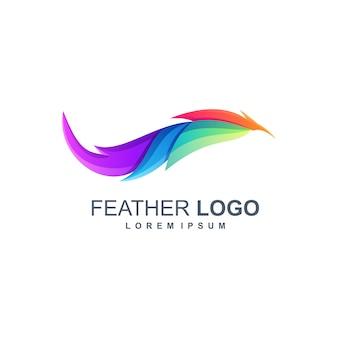 Logo de plumes dégradé coloré impressionnant