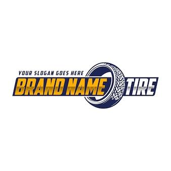 Logo de pneu de magasinage