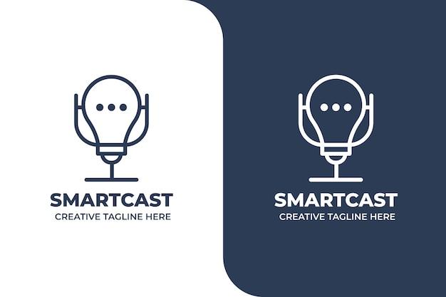 Logo de podcast d'idées intelligentes