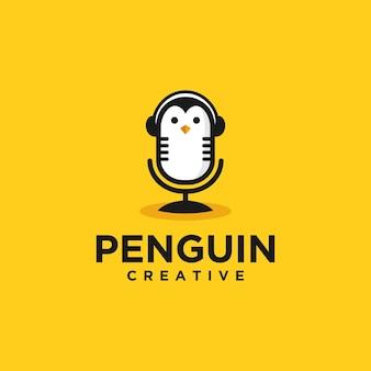 Logo podcast pingouin