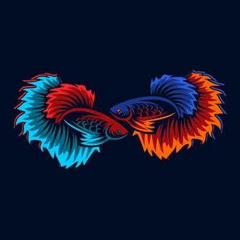 Logo de poisson betta