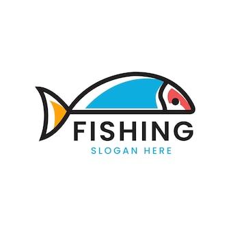 Logo de poisson avec une forme simple et unique