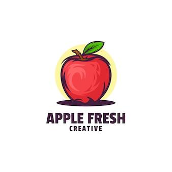 Logo pomme frais simple